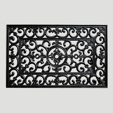designer front door mats with classic kempf scroll floral doormat