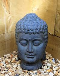 large 39cm sitting buddha effect garden outoor indoor statue