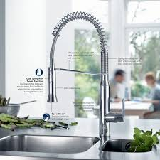 grohe faucet kitchen faucet com 31380000 in starlight chrome by grohe