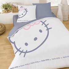 housse couette kitty blinky blanc taie tous les