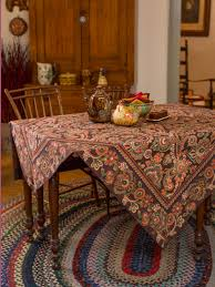 Coffee Table Cloth by Queen U0027s Court Tablecloth Chocolate Attic Sale Linens