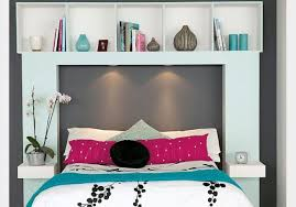 bedroom luxury king size headboard with storage and lights