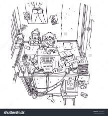 similiar messy room sketch keywords messy bedroom cartoon cryp us