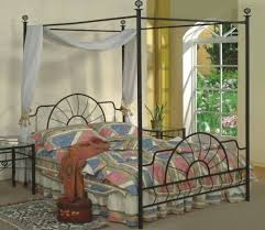 Iron Canopy Bed Frame Amazon Com Queen Size Black Finish Canopy Metal Bed Headboard And