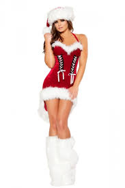 46 41 lace up cocktail red santa costumes womens christmas