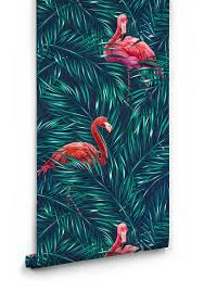 wallpaper with pink flamingos tropical pink flamingo wallpaper milton king
