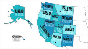 Map Of States With Capitals by Western Capitals U0026 States Youtube
