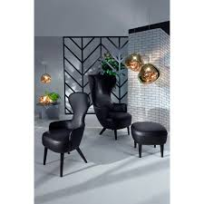 Leather Wing Back Chairs Wingback Chair Elmosoft Leather Tom Dixon Horne
