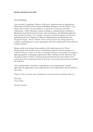 The Best Cover Letters Samples Marketing Cover Letter Sample Marketing Cover Letter Will Help