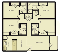 4 bed floor plans student apartments in murfreesboro tn campus crossings