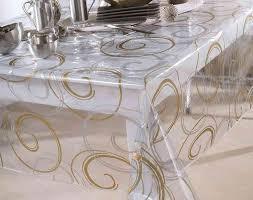 nappe cuisine plastique nappe transparente la nappe de table