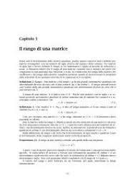 dispense algebra lineare il rango di una matrice algebra lineare docsity