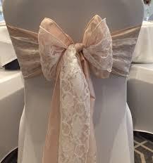 blush chair sashes wedding by design