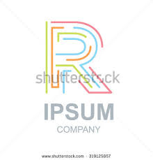 abstract letter r logo design templatebusinesscolorful stock