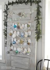 turning an door into a daily ornament advent calendar hometalk