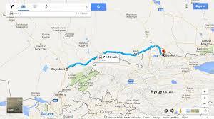 Bishkek Map Travels On The Silk Road