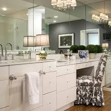 drop down makeup vanity transitional bathroom crown point