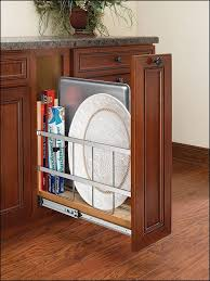 Trash Can Storage Cabinet Slide Out Trash Can Pull Out Trash Bin Cabinet In The End