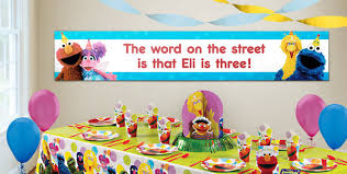 custom sesame street birthday banners party city