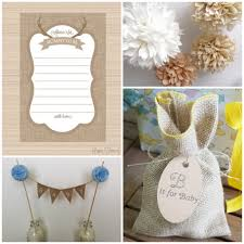 burlap baby shower decorations rustic baby chic