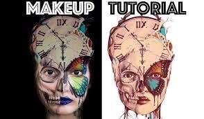 clock butterfly makeup digital tutorial norman duenas
