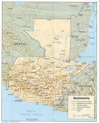 geographical map of guatemala departments map of guatemala