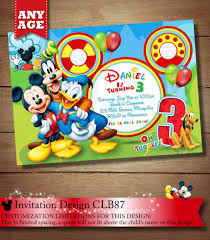 Mickey Mouse Invitation Cards Printable Mickey Mouse Clubhouse Invitation Mickey Invitation Mickey