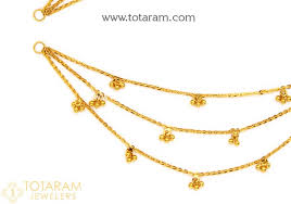earring chain necklace images 22k gold champasaralu gold ear chain 235 gem312 in 9 100 grams jpg