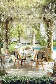 Garden Bistro Table Garden With Pergola Traditional Garden