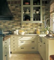 Green Kitchen Wall Tiles Celery Green Kitchen Traditional With Island Shelf Curio Cabinets