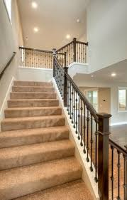 stair systems wrought iron balusters with pre finished handrail