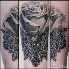 half sleeve arm tattoos black and grey rose tattoo by remis remistattoo realism
