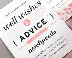 wedding wishes and advice well wishes advice favor card my wedding favors