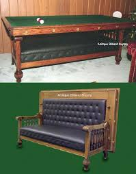 How To Refelt A Pool Table 2 06 Rare Brunswick Antique Pool Table In The Form Of A