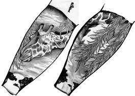 black n grey ink koi half sleeve tattoo design photos pictures