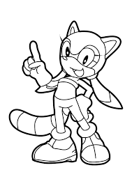 sonic characters free coloring pages on art coloring pages