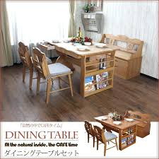 small table with shelves kitchen table with shelves dining room tables with storage benches