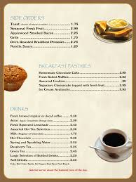 menu free template breakfast menu template breakfast menu template