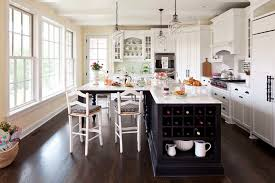 Traditional Kitchen Design Ideas Dining Room Kitchen Islands Designs With Seating And Bay Window