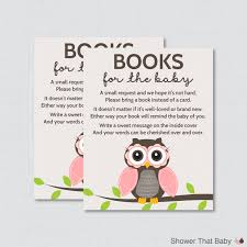pink owl baby shower invitations owl baby shower bring a book instead of a card invitation