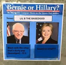 Lil B Memes - lil b the based god bernie or hillary know your meme