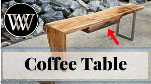 Woodworking Build Coffee Table by Modern Live Edge Waterfall Coffee Table Part 3 How To Build