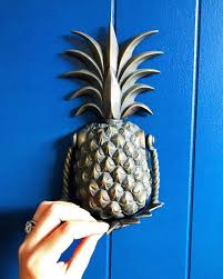 there u0027s a new pineapple door knocker in town and he u0027s big and