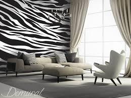 chambre zebre et bruit de zèbre papiers peints noir et blanc papiers peints demural