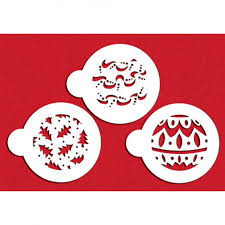 ornaments cookie top stencil set by designer stencils
