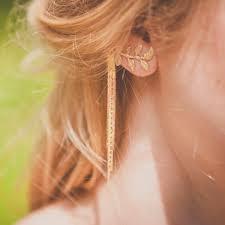 one ear earring women s fashion jewelry leaf tassel stud earrings ear