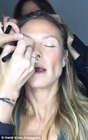 Make Up Classes In San Antonio Tx Heidi Klum Posts Sped Up Video Of Hair And Makeup Process Daily