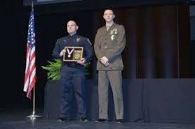 Usmc Flag Officers Marine Corps Civilian Police Officer Recognized For Valor By