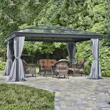Patio Gazebo 10 X 10 by Gazebos U2013 Hard Top Sun Shelter Soft Top U0026 More Lowe U0027s Canada