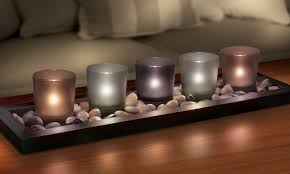candle tea lights with tray groupon goods